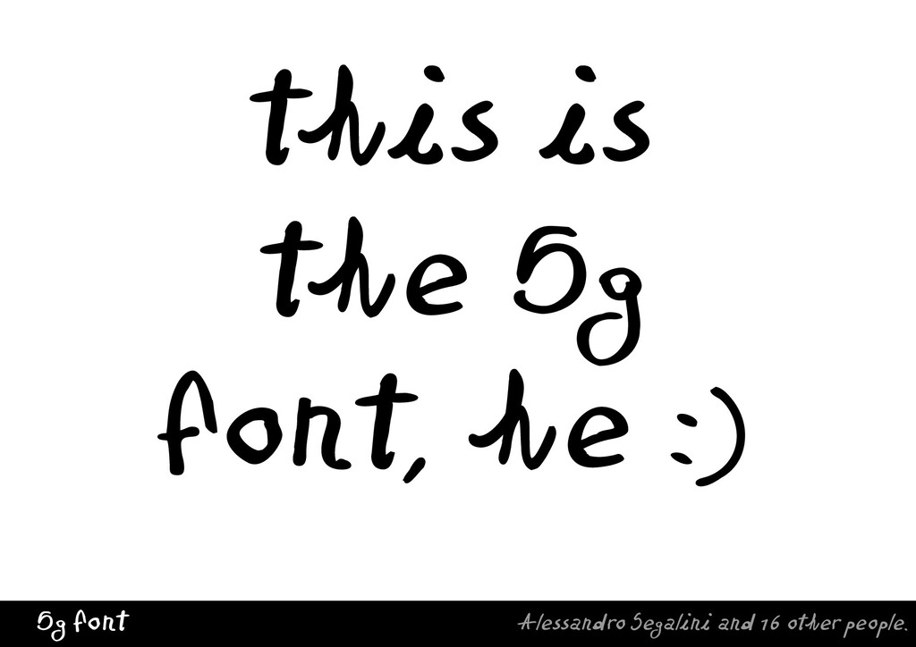 5g font Alessandro Segalini and 16 other people...
