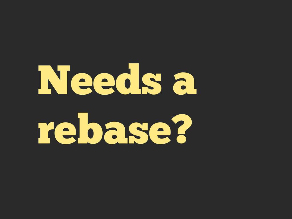 Needs a rebase?
