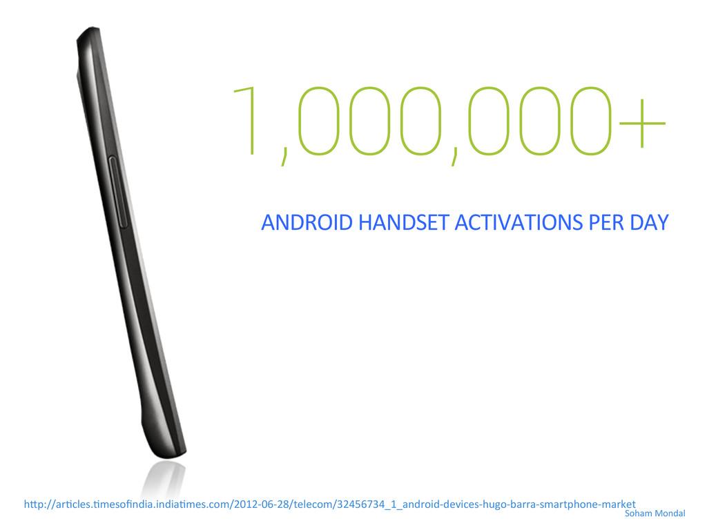 1,000,000+   ANDROID HANDSET ACTIVATIO...