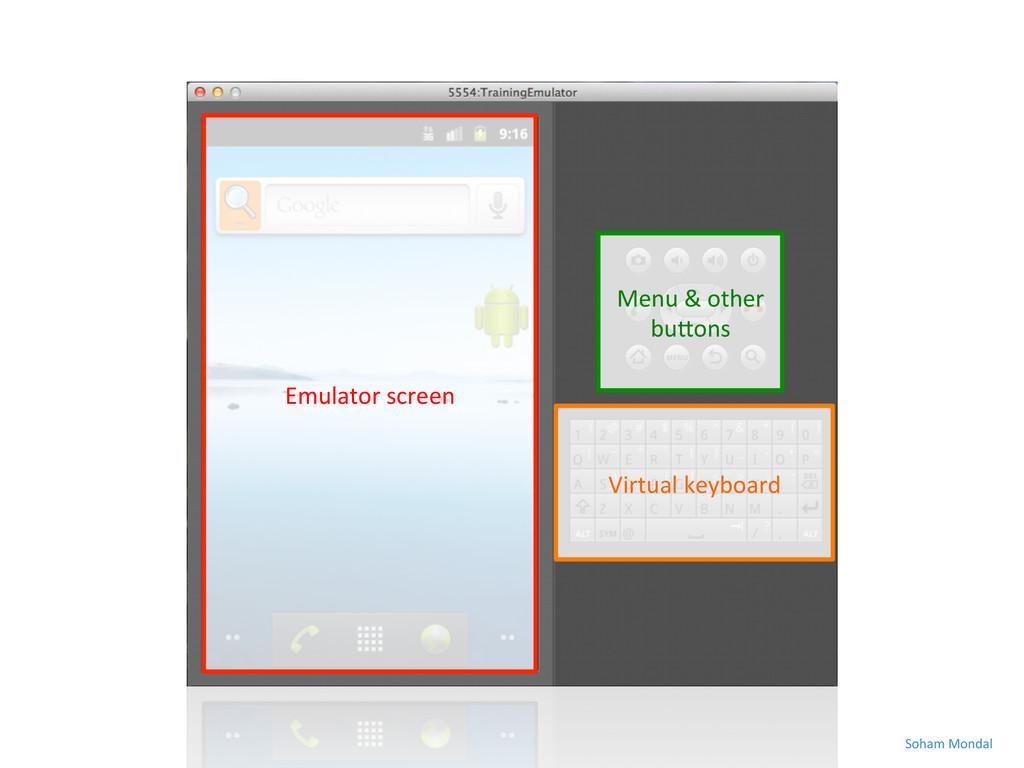 Emulator screen  Virtual keyboard  ...