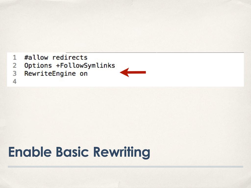 Enable Basic Rewriting