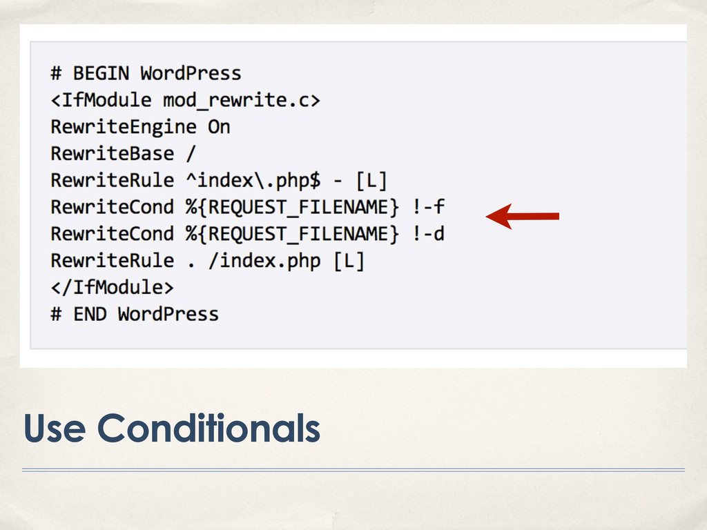 Use Conditionals