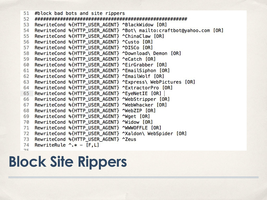 Block Site Rippers