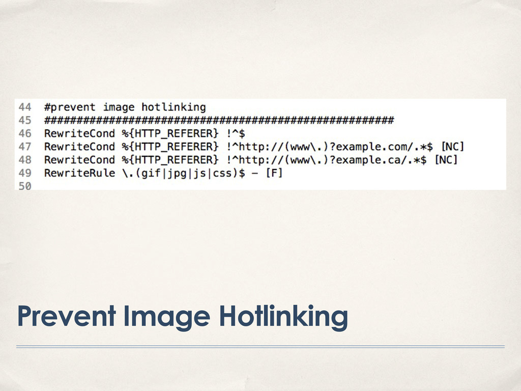 Prevent Image Hotlinking