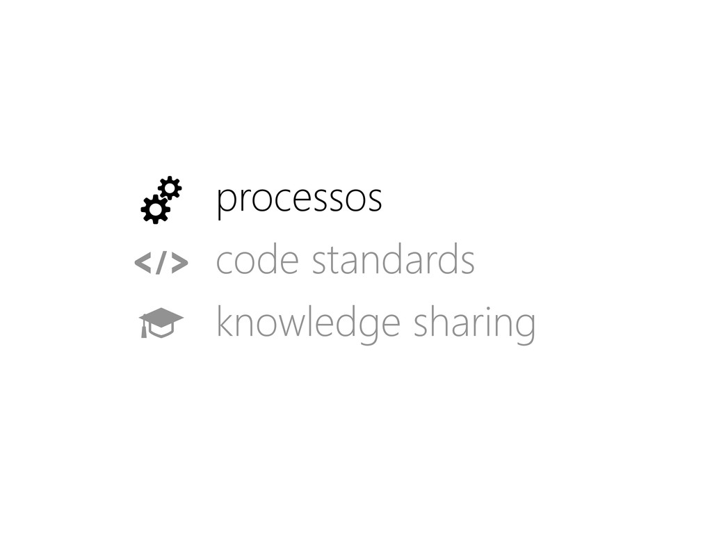 processos code standards knowledge sharing