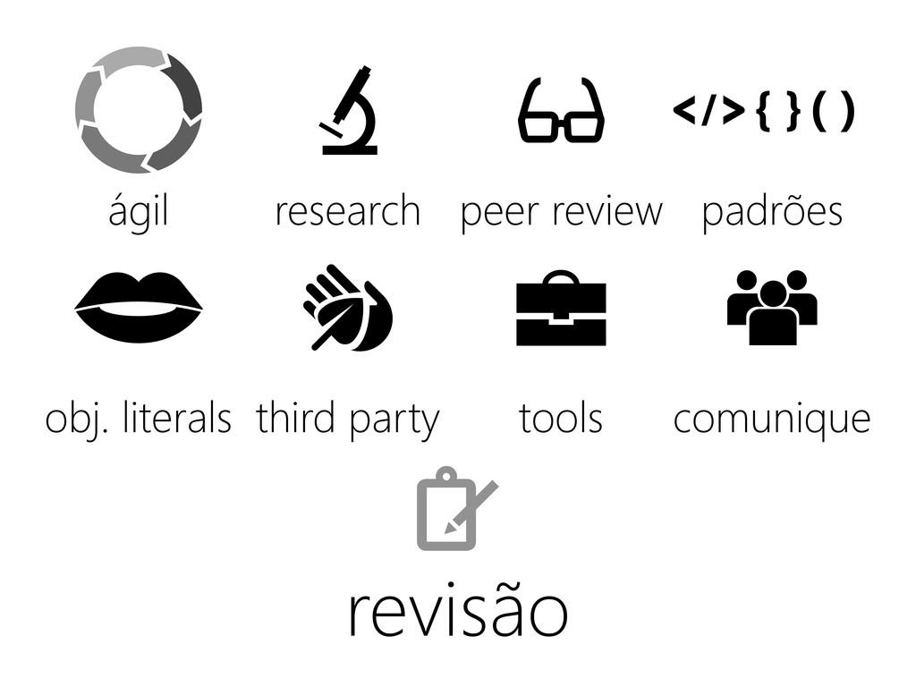 revisão ágil obj. literals third party tools co...