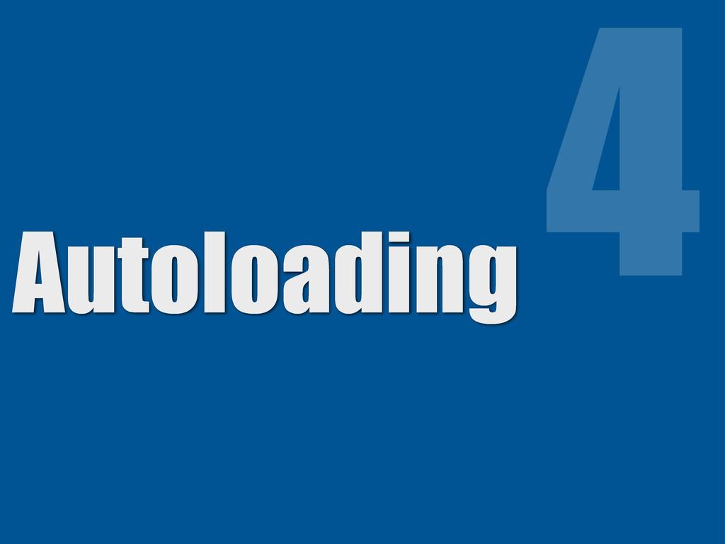 Autoloading 4