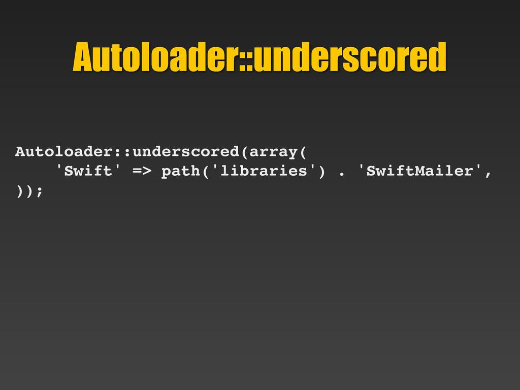 Autoloader::underscored Autoloader::underscored...