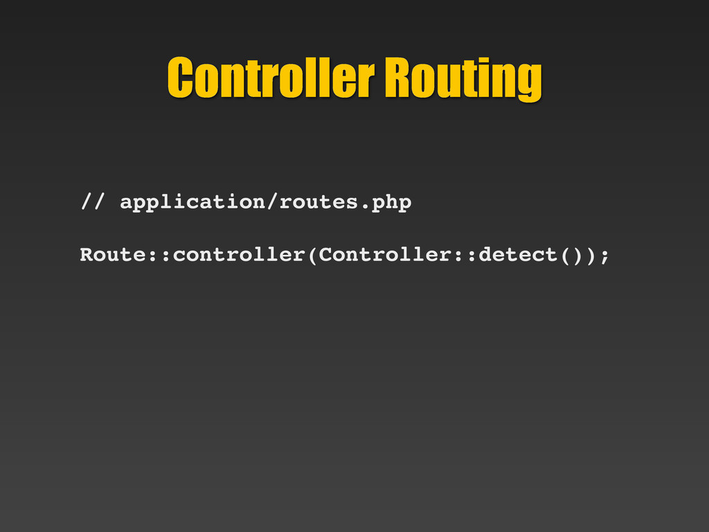 Controller Routing // application/routes.php Ro...