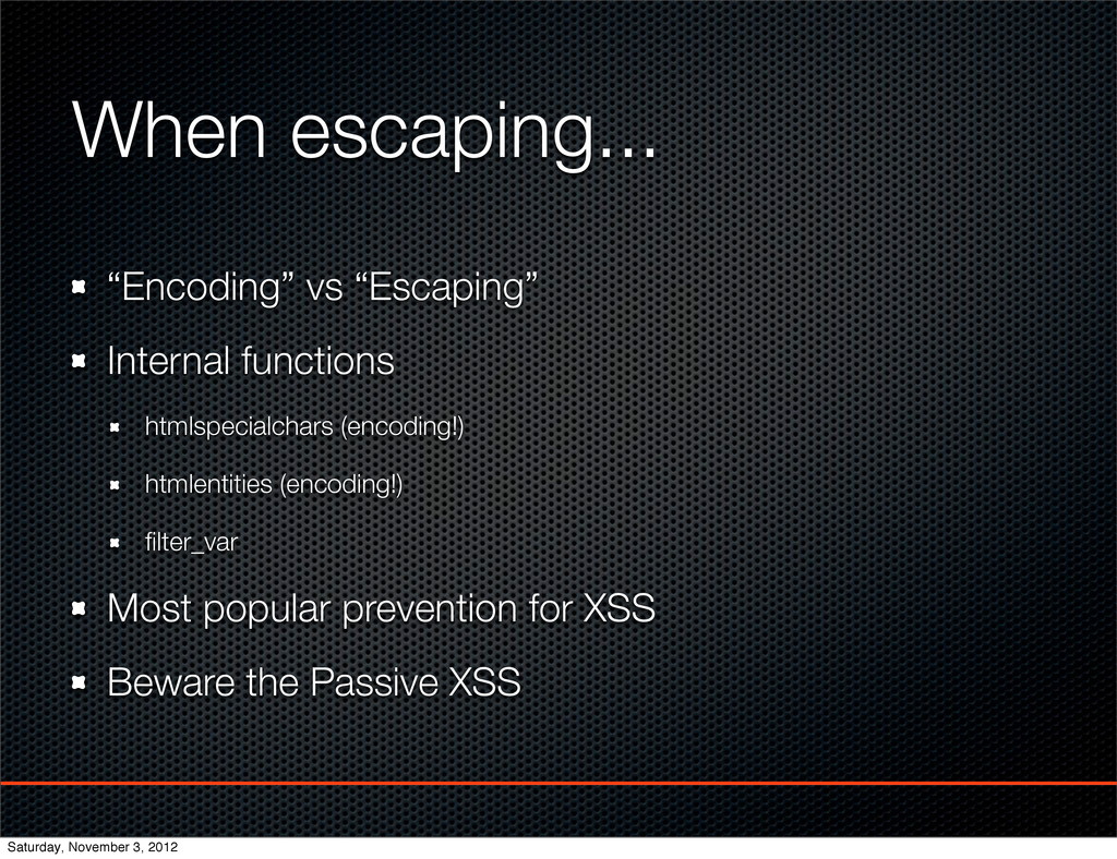 "When escaping... ""Encoding"" vs ""Escaping"" Inter..."