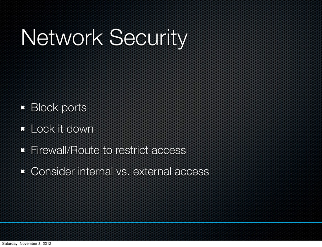 Network Security Block ports Lock it down Firew...