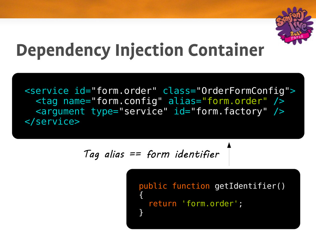 "Dependency Injection Container <service id=""for..."