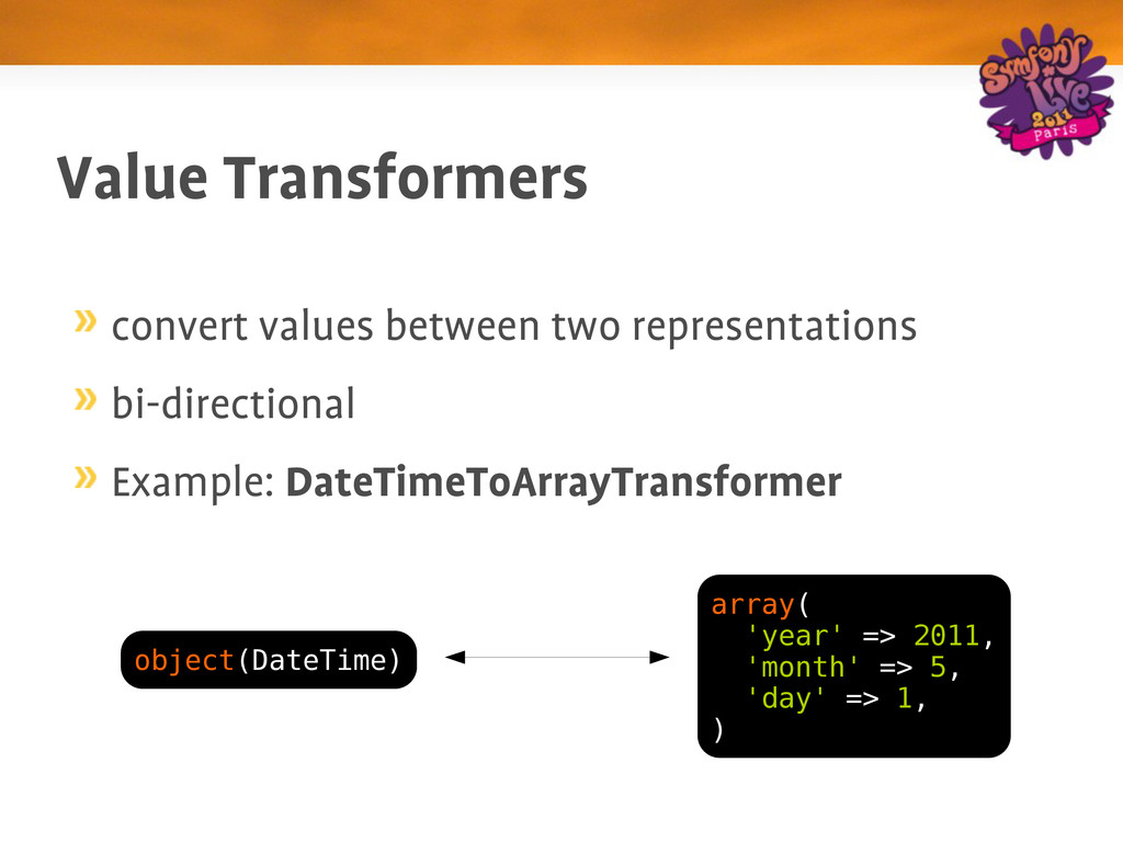 Value Transformers convert values between two r...