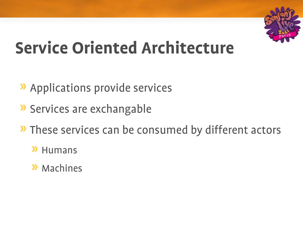 Service Oriented Architecture Applications prov...