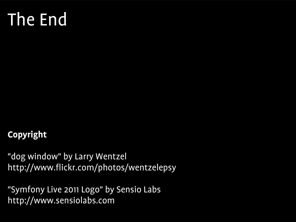 "The End Copyright ""dog window"" by Larry Wentzel..."