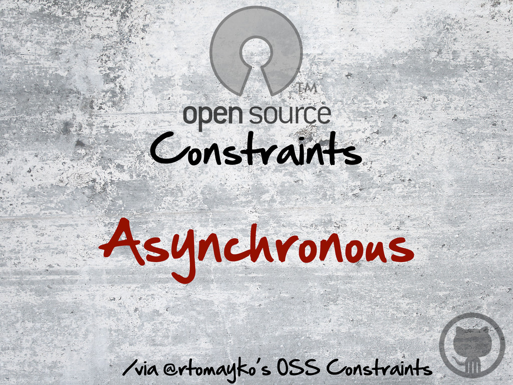 /via @rtomayko's OSS Constraints Constraints...