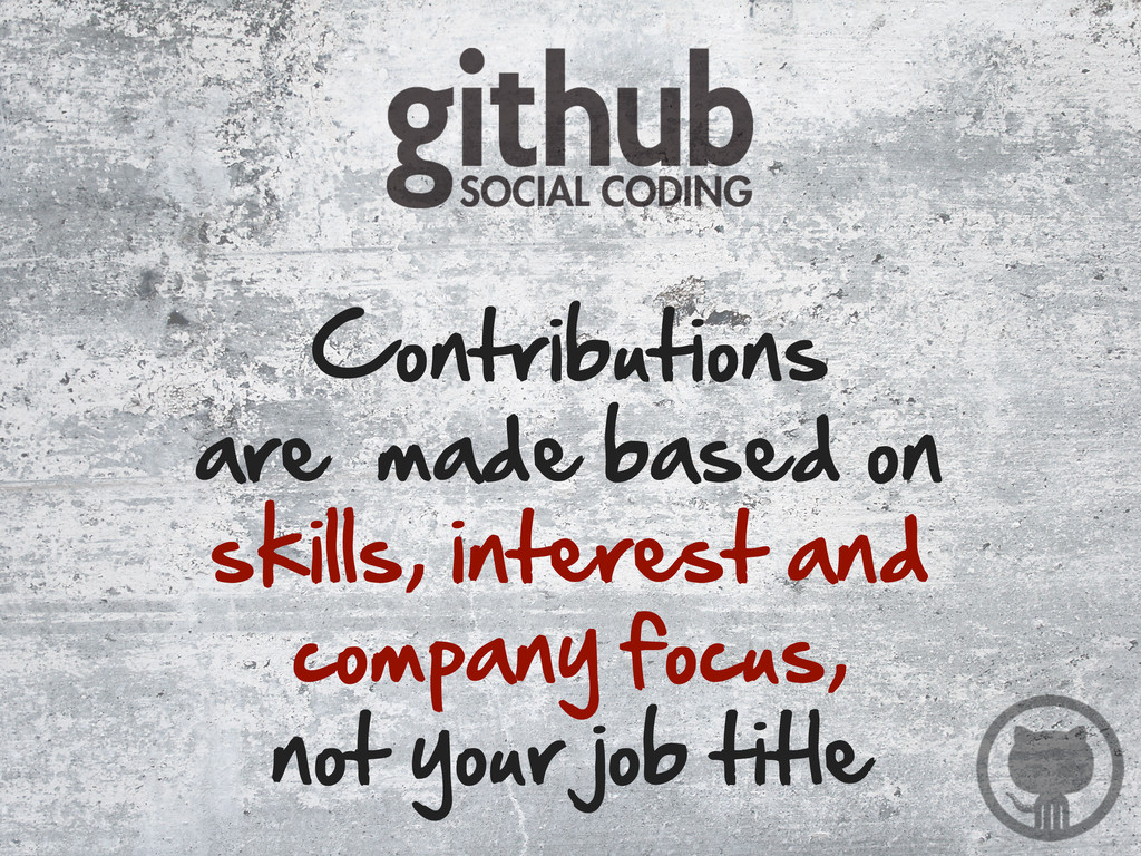 Contributions are  made based on skills, i...