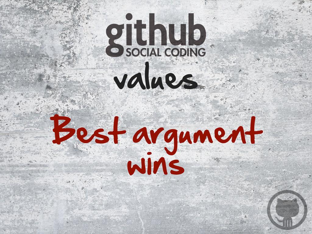 Best argument  wins values
