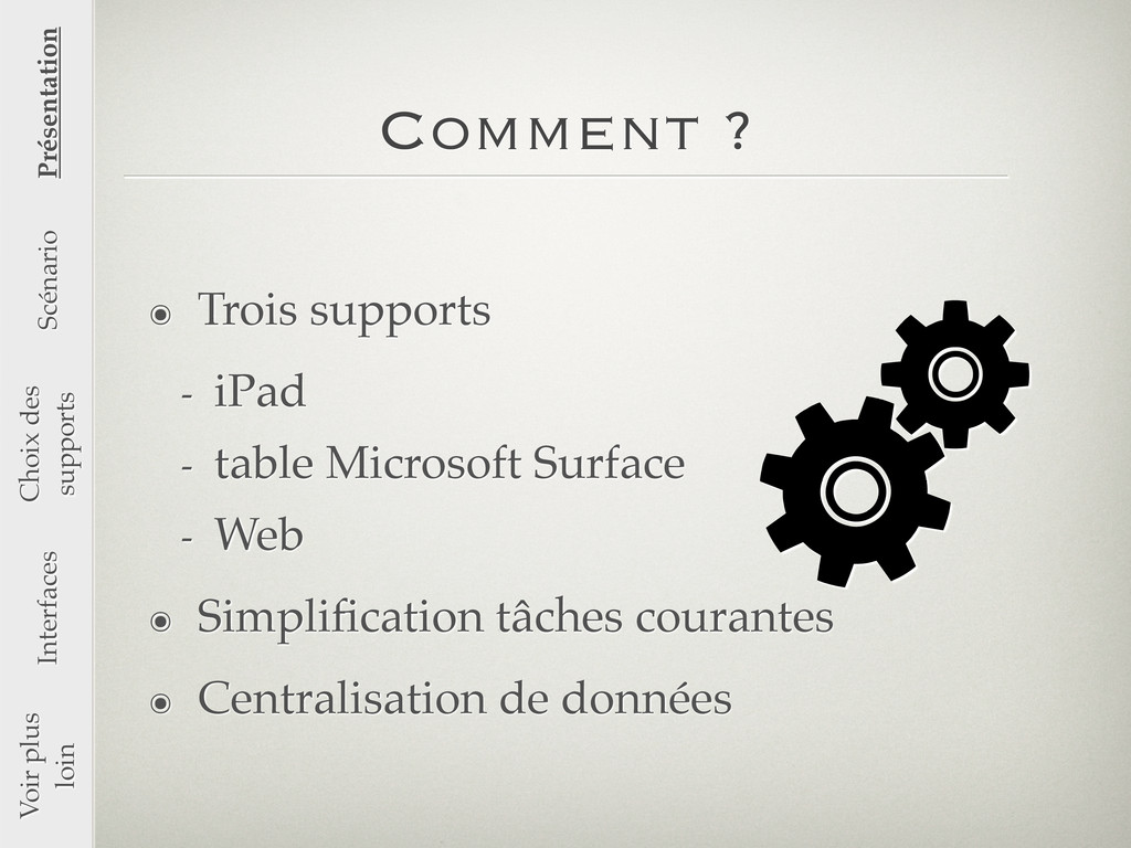 Comment ? ๏ Trois supports - iPad - table Micro...