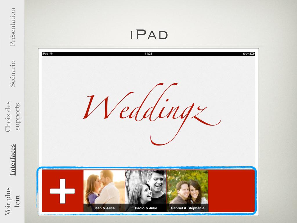 iPad Présentation Scénario Choix des supports I...
