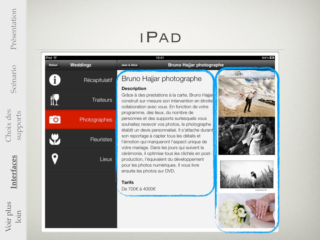 iPad Voir plus loin Interfaces Présentation Scé...