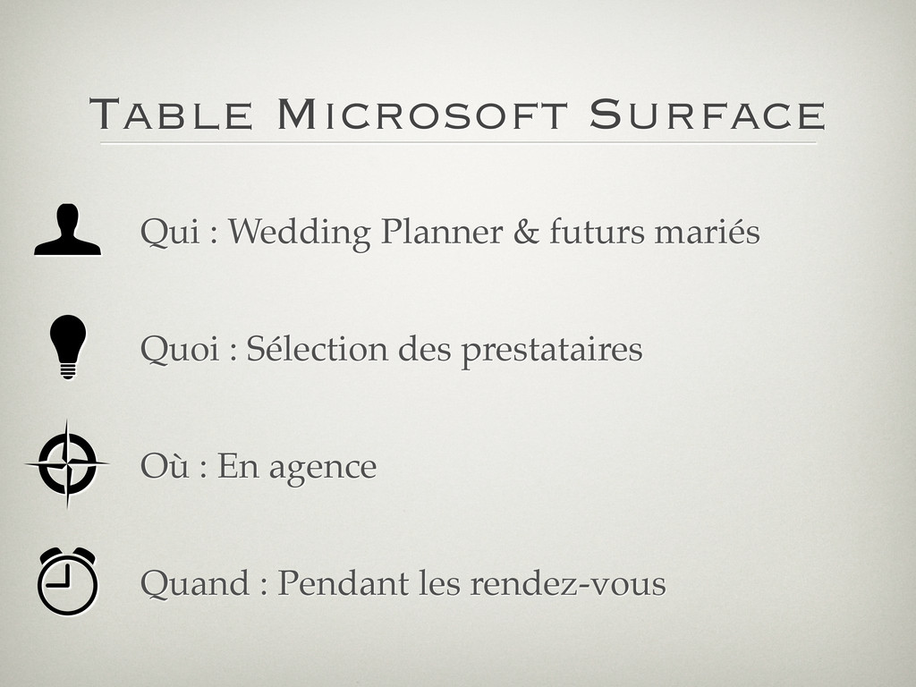 Table Microsoft Surface Qui : Wedding Planner &...