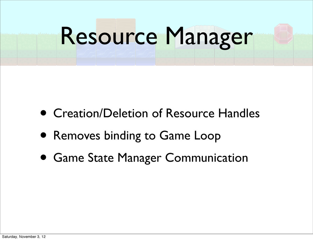 Resource Manager • Creation/Deletion of Resourc...