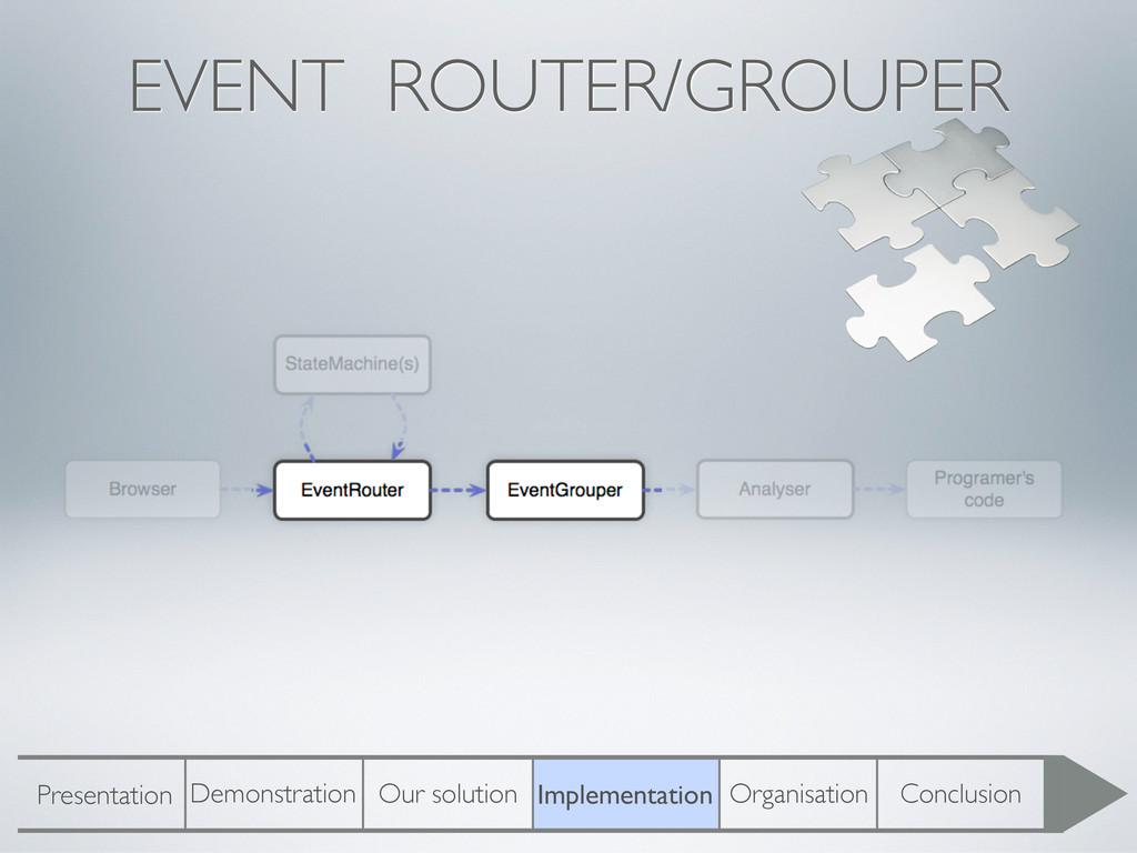 EVENT ROUTER/GROUPER Presentation Demonstration...