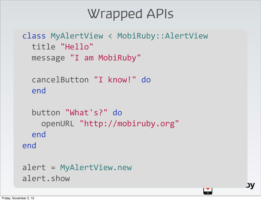 Wrapped APIs \ class	