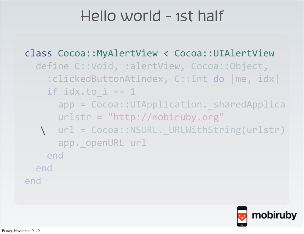 class Cocoa::MyAlertView < Cocoa::UIAl...