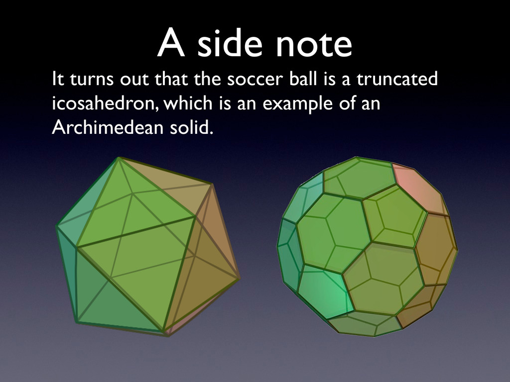 A side note It turns out that the soccer ball i...