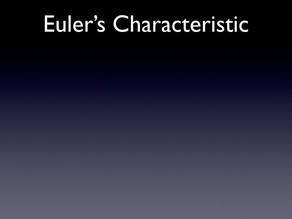 Euler's Characteristic
