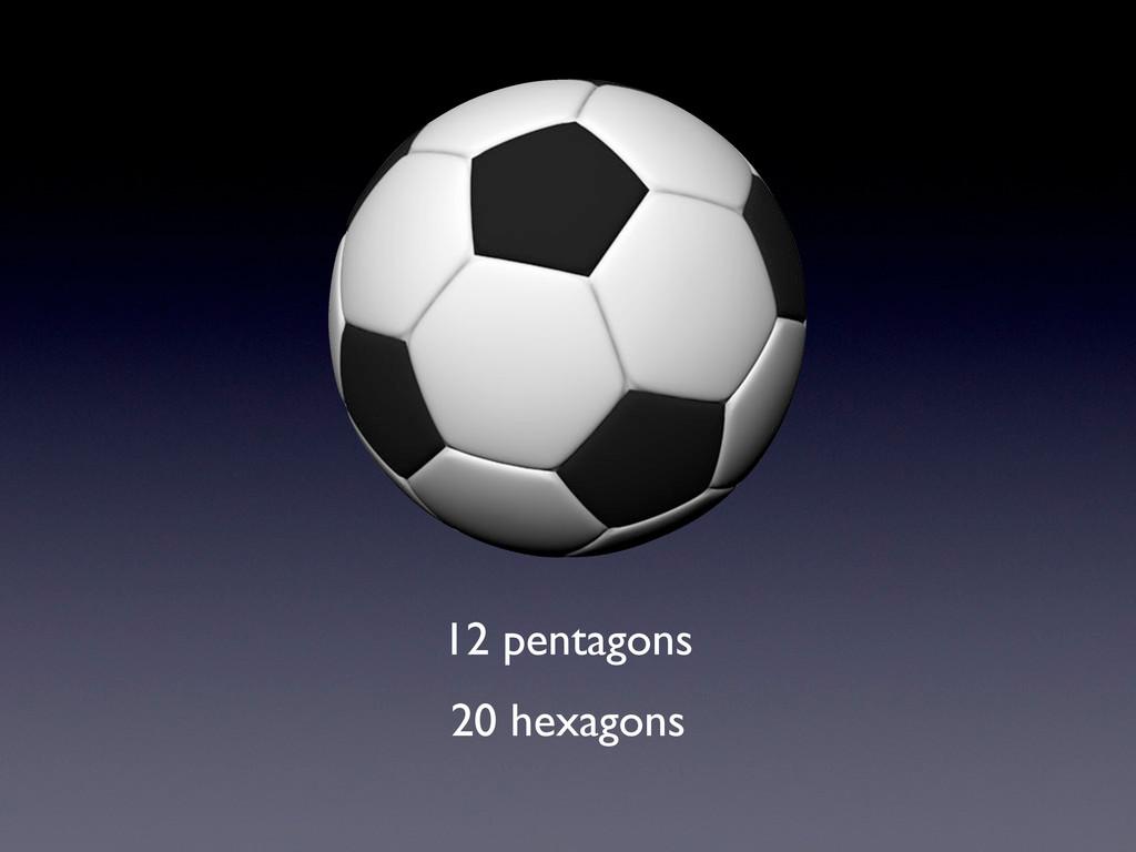 12 pentagons 20 hexagons
