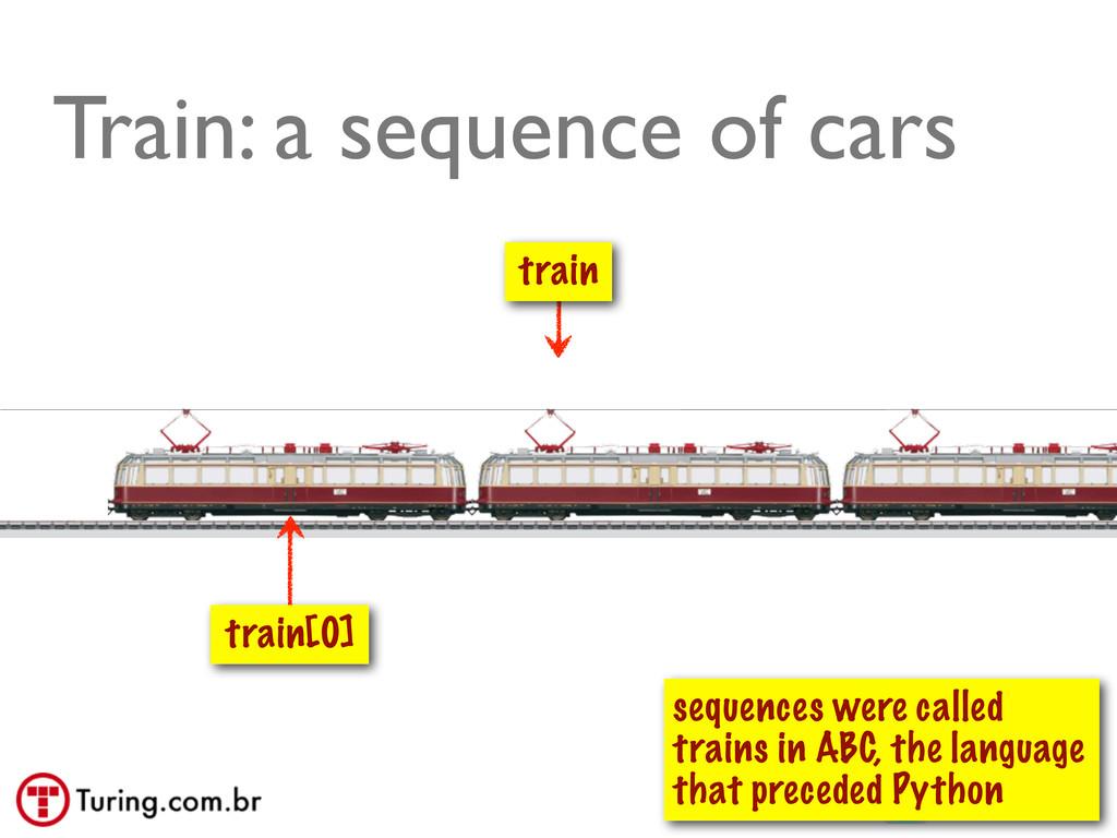 @ramalhoorg Train: a sequence of cars train tra...