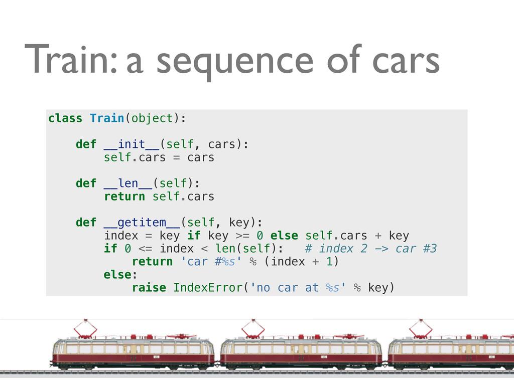 @ramalhoorg Train: a sequence of cars class Tra...
