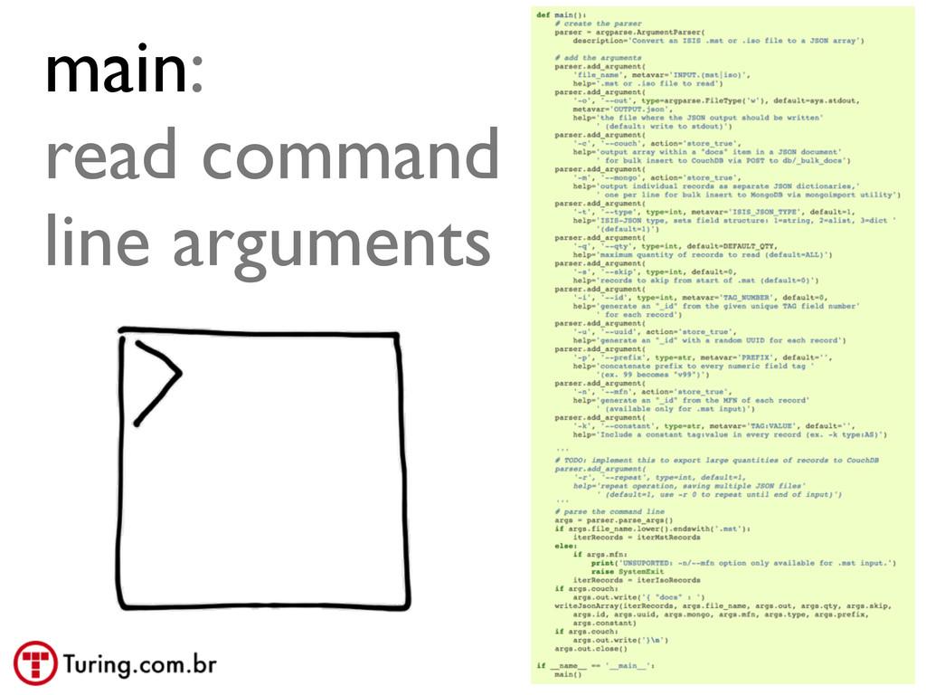 @ramalhoorg main: read command line arguments