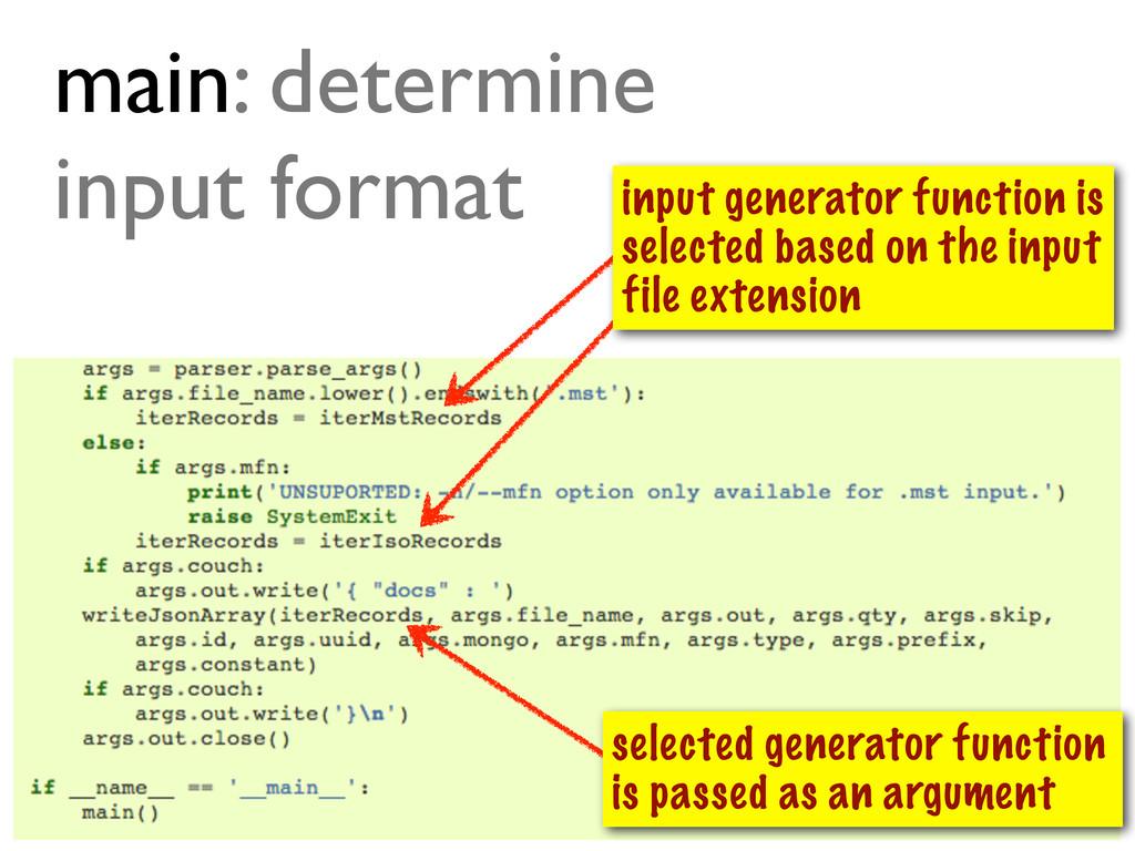 @ramalhoorg main: determine input format select...