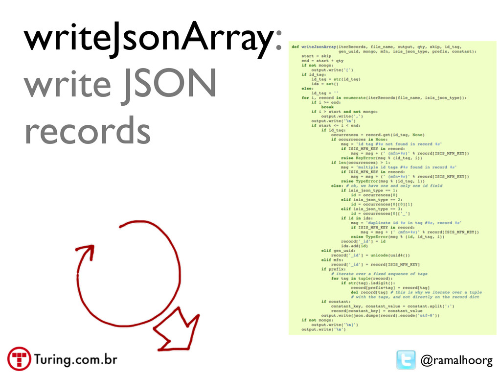 @ramalhoorg writeJsonArray: write JSON records
