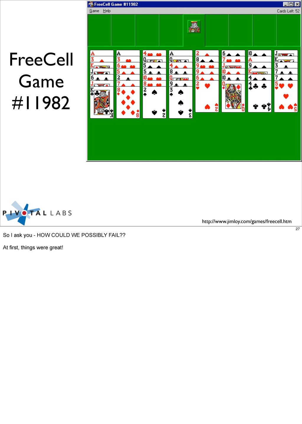 http://www.jimloy.com/games/freecell.htm FreeCe...