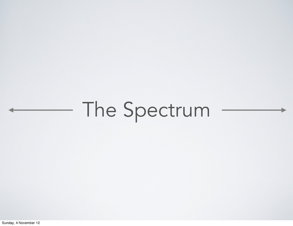 The Spectrum Sunday, 4 November 12