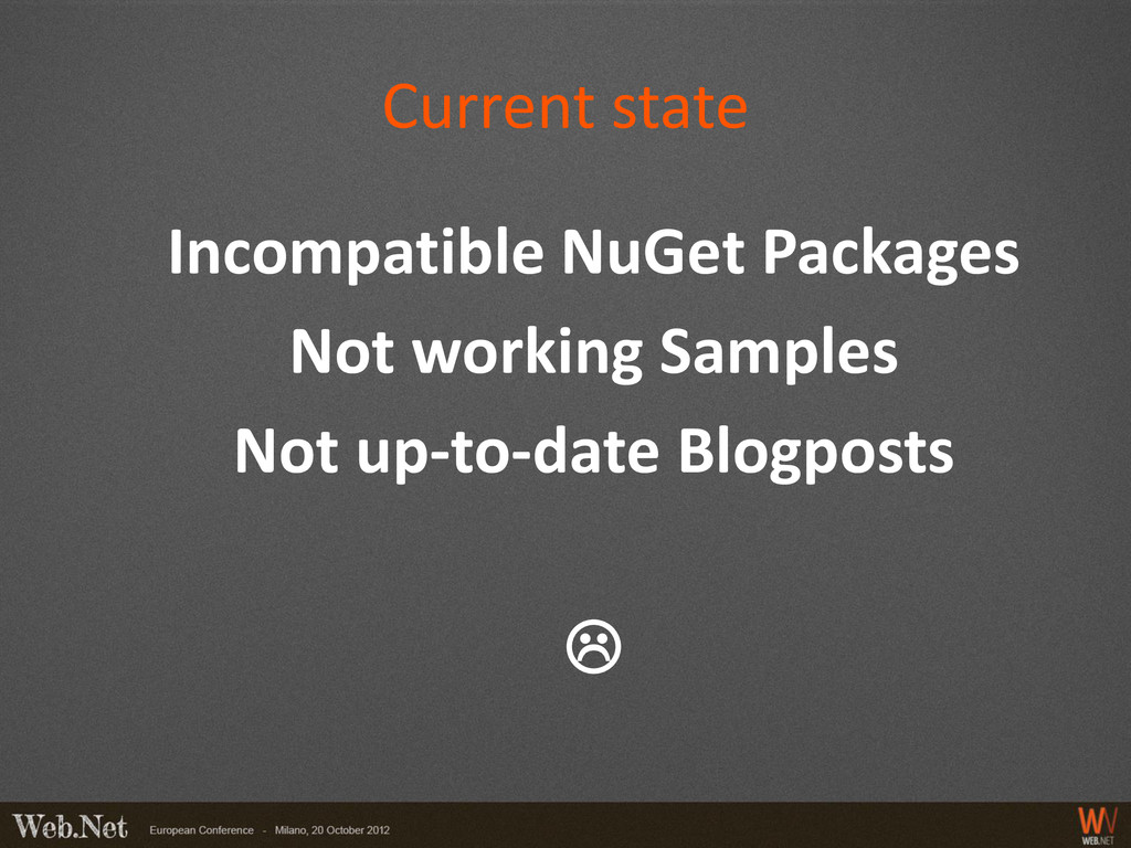 Current state Incompatible NuGet Packages Not w...
