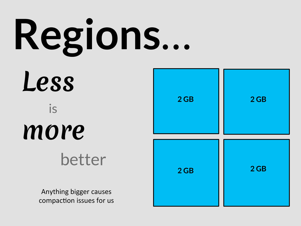 Less Regions… is more better 2 GB 2 GB 2 G...