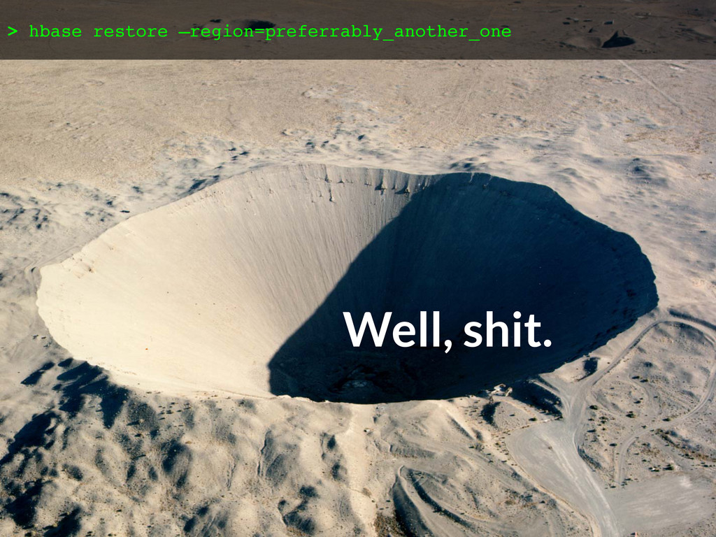 Disaster recovery (crater pic w/ ...