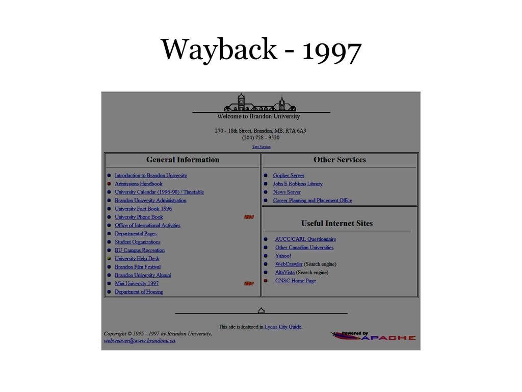 Wayback - 1997