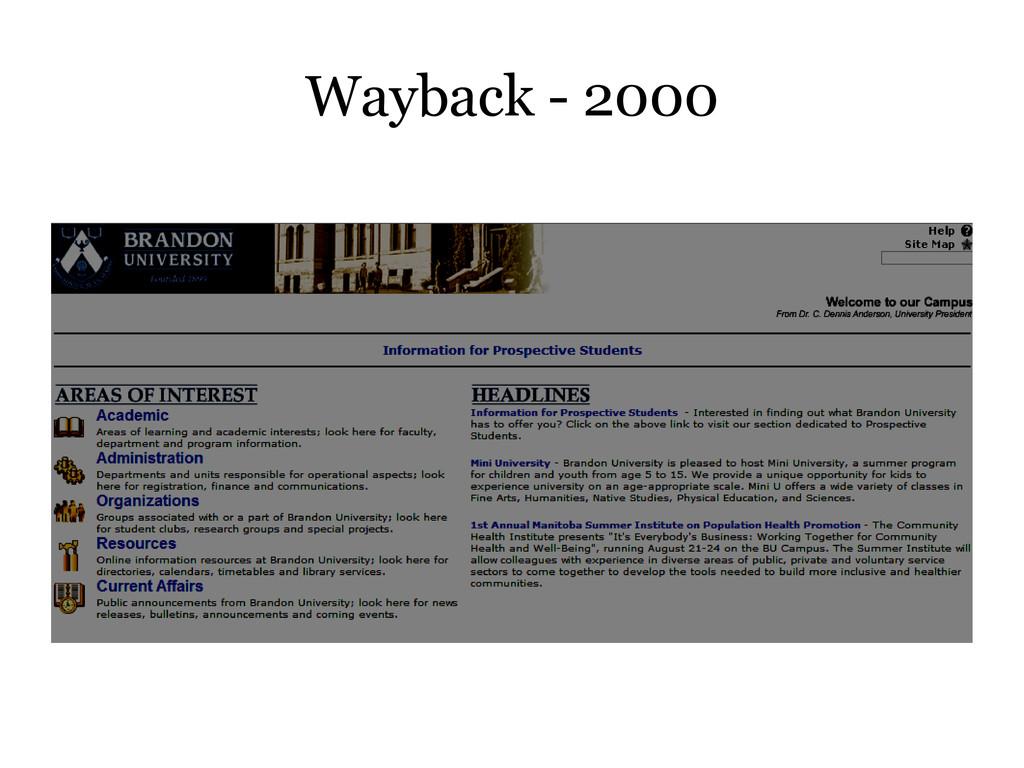 Wayback - 2000