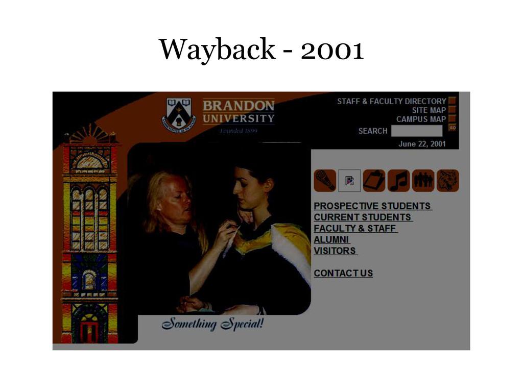 Wayback - 2001