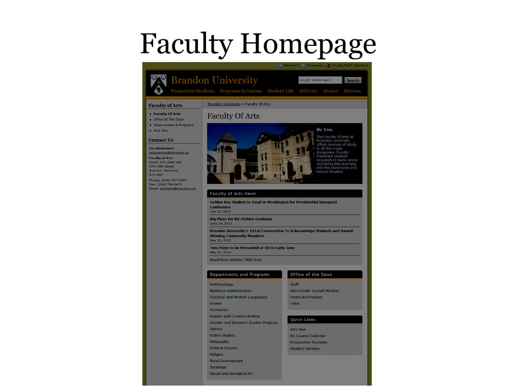 Faculty Homepage
