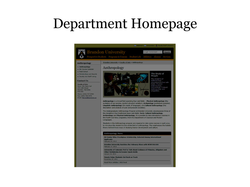 Department Homepage