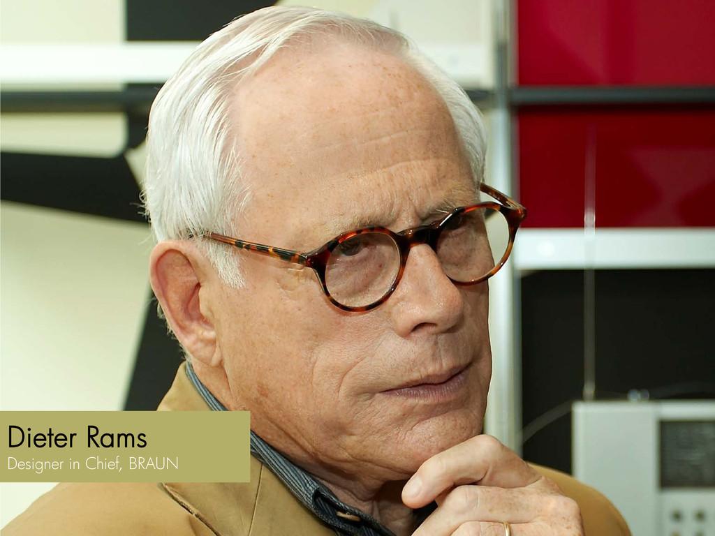 Dieter Rams Designer in Chief, BRAUN