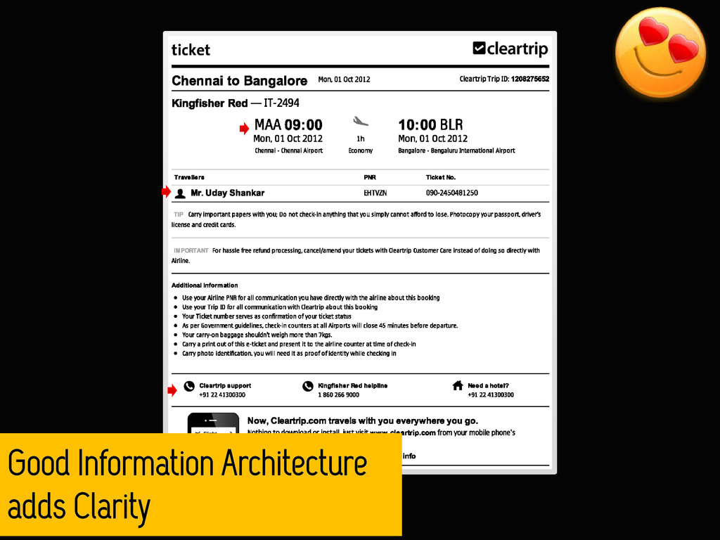 Good Information Architecture adds Clarity